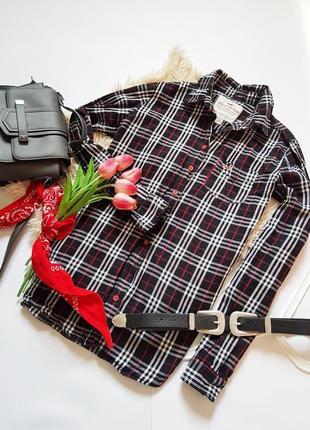 Базова рубашка в клітинку від hollister