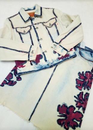Джинсовый юбочный костюм варенка replay