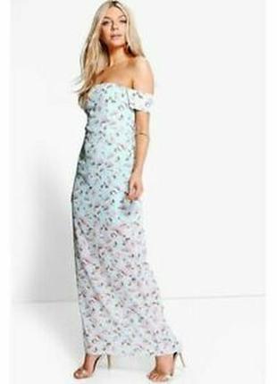 Романтическое макси платье цветочный принт