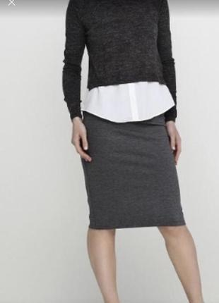 Трикотажная юбка футляр