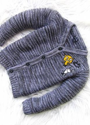 Теплая кофта реглан свитер kiabi