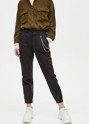 Брюки штаны карго cargo pants черные стильные