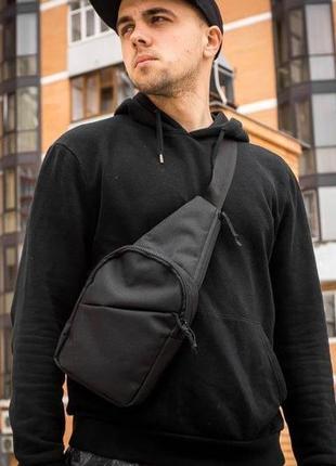 Мужская нагрудная сумка бананка слинг