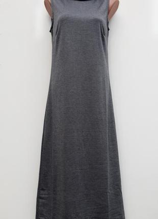 Серое платье в пол renuar