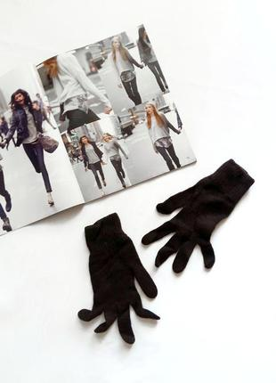 Коричневые перчатки benetton
