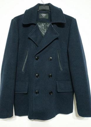 M 48 пальто мужское синее демисезонное
