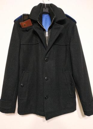 M 48 teddy smith пальто мужское черное демисезонное