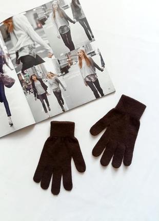 Коричневые перчатки jennyfer