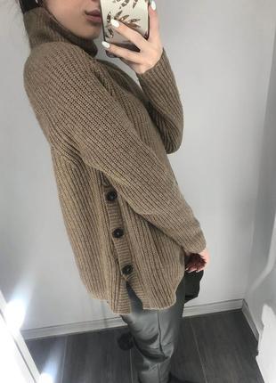 Актуальный трендовый тёплый оверсайз свитер с горлом от h&m