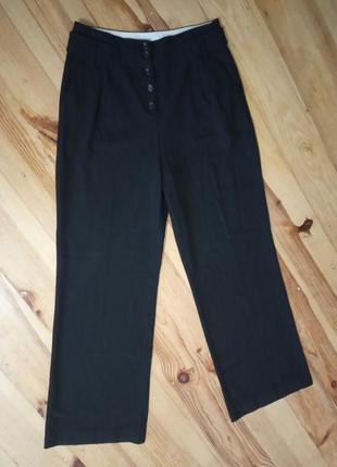 Класні брюки з високою талією і кишенями