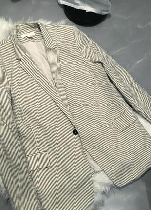 Пиджак из жатого хлопка с подкладок h&m