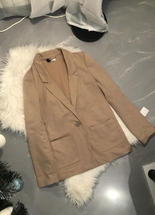 Песочный пиджак от h&m