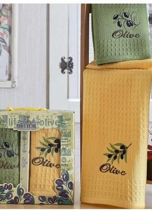 Кухонные полотенца 40*60 (2шт),подарочный комплект, турция