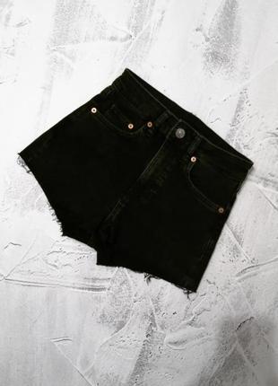 Черные базовые шорты h&m ❤️