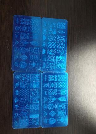 Пластины для стемпинга трафарет для дизайна ногтей