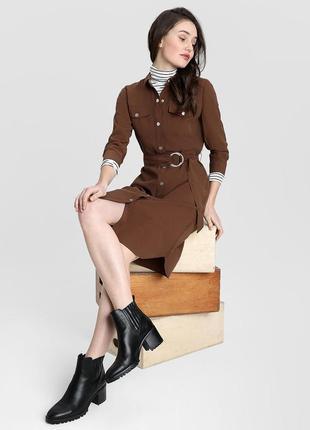 Платье-рубашка с накладными нагрудными карманами  ostin