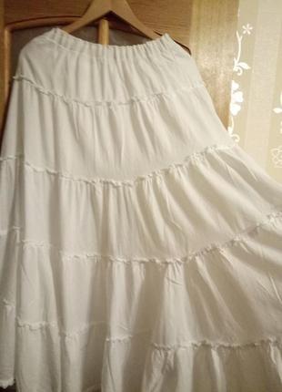 Летняя коттновая юбка большого размера