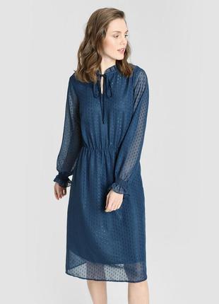Принтованное шифоновое платье ostin
