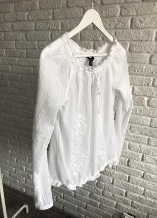 Біла блуза з вишивкою ✨🌙