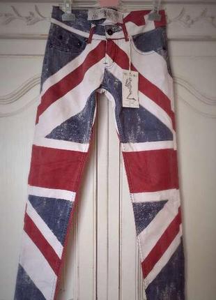 Джинсы с английским флагом