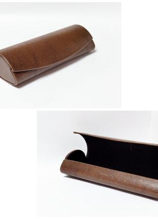 Футляр на магните для хранения очков коричневый