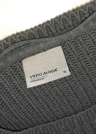 1+1=3 стильный графитово-серый объемный свитер оверсайз vero moda, размер 48 - 502 фото
