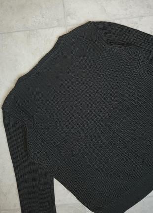 1+1=3 стильный графитово-серый объемный свитер оверсайз vero moda, размер 48 - 506 фото
