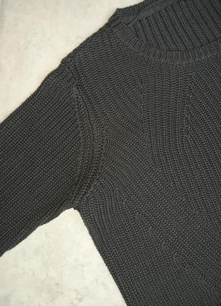1+1=3 стильный графитово-серый объемный свитер оверсайз vero moda, размер 48 - 508 фото