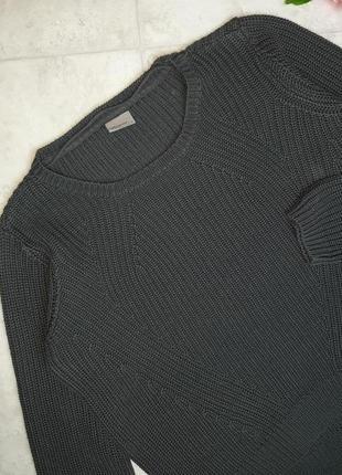 1+1=3 стильный графитово-серый объемный свитер оверсайз vero moda, размер 48 - 507 фото