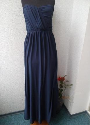 Шифоновое в пол платье бюстье tfnc