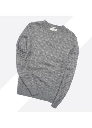 F&f l / мужской серый свитер с шерстью на высокого