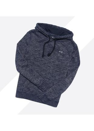 Hollister s / тёмно-синий мягкий худи с лого на груди