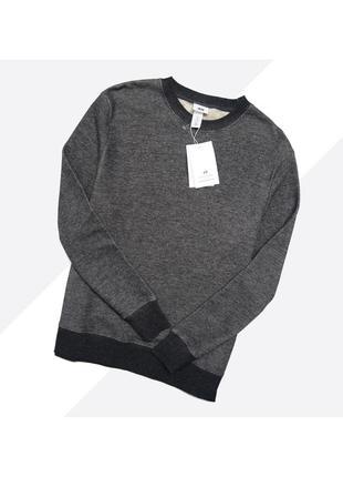 H&m x david beckham m / новый тёмно-серый базовый свитшот
