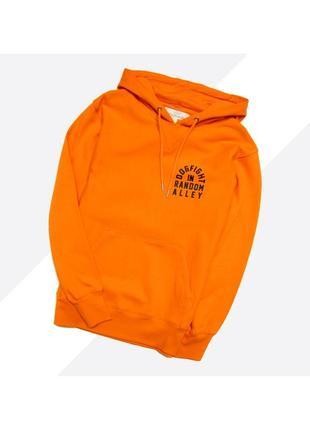 H&m m / новый плотный оранжевый оверсайз худи с большим принтом