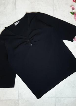 1+1=3 фирменный черный свитер водолазка с v-образным вырезом percara plus, размер 52 - 54