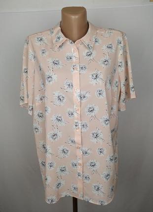 Блуза персиковая шикарная в принт большой размер marks&spencer uk 18/46/xxl