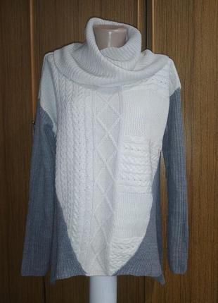 Стильный, ассиметричный свитер, оверсайз