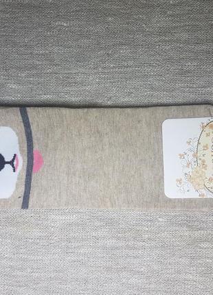 Женские носки с ушками мордочки