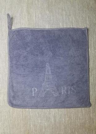Тканевая салфетка с рисунком в наличии 25*25 см микрофибра серый