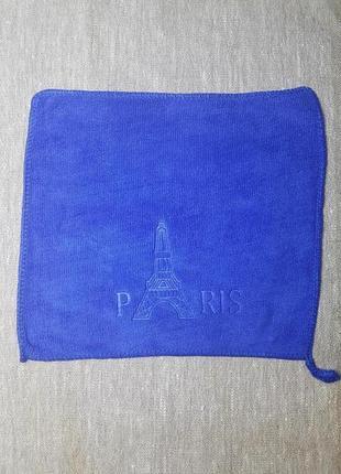 Тканевая салфетка с рисунком в наличии 25*25 см микрофибра синий