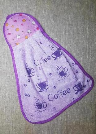 Кухонная салфетка с рисунком и петелькой для подвешивания фиолетовый