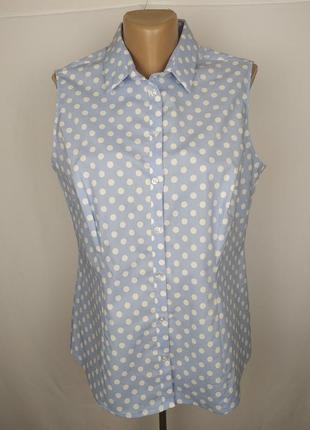 Блуза стильная новая в горохи marks&spencer uk 16/44/xl