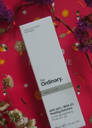 Aha 30% + bha 2% peeling solution - кислотный пилинг the ordinary
