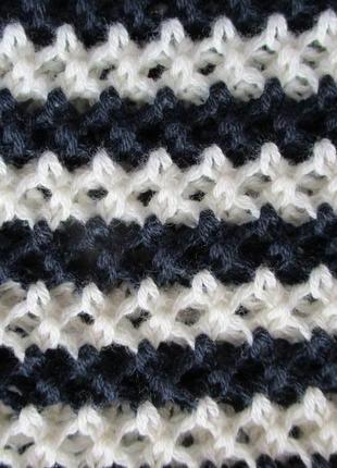 Ажурный вязаный свитер в полоску tcm tchibo9 фото