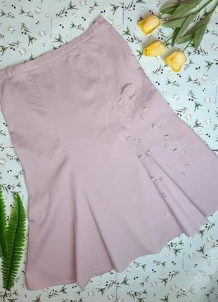 🎁1+1=3 сиреневая плотная нарядная юбка ниже колен миди joanna hope, размер 52 - 54