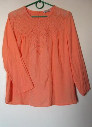 Блуза оранжевая хб с шитьем