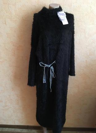 Тёплое платье травка р 50-52