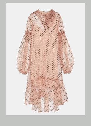 Необычное,шикарное платье в горох,органза,нарядное платье