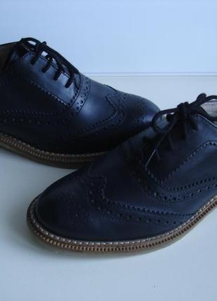 Туфли, оксфорды кожаные