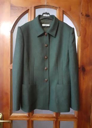 Пиджак премиум класс valentino miss v оригинал шерсть с кашемиром  темно-изумрудный р. m-l